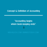 Concept & Definition of Accounting