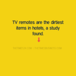TV remotes are the dirtiest items in hotels..