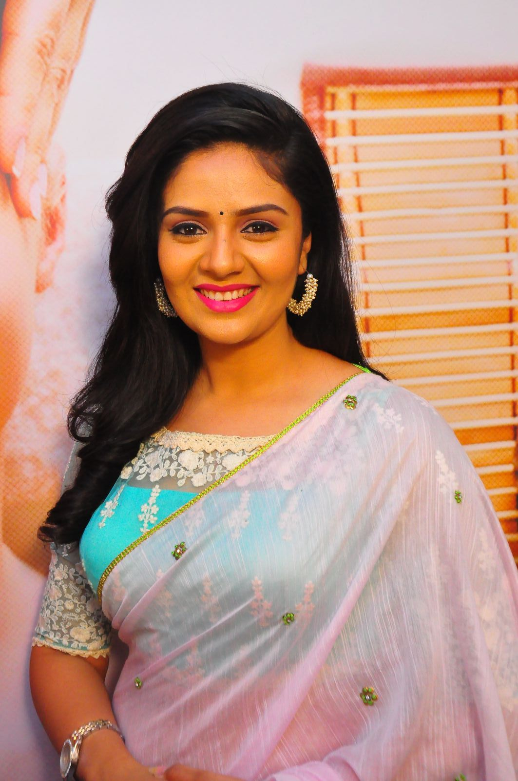 Sreemukhi made her debut as lead actress in Prema Ishq Kaadhal.