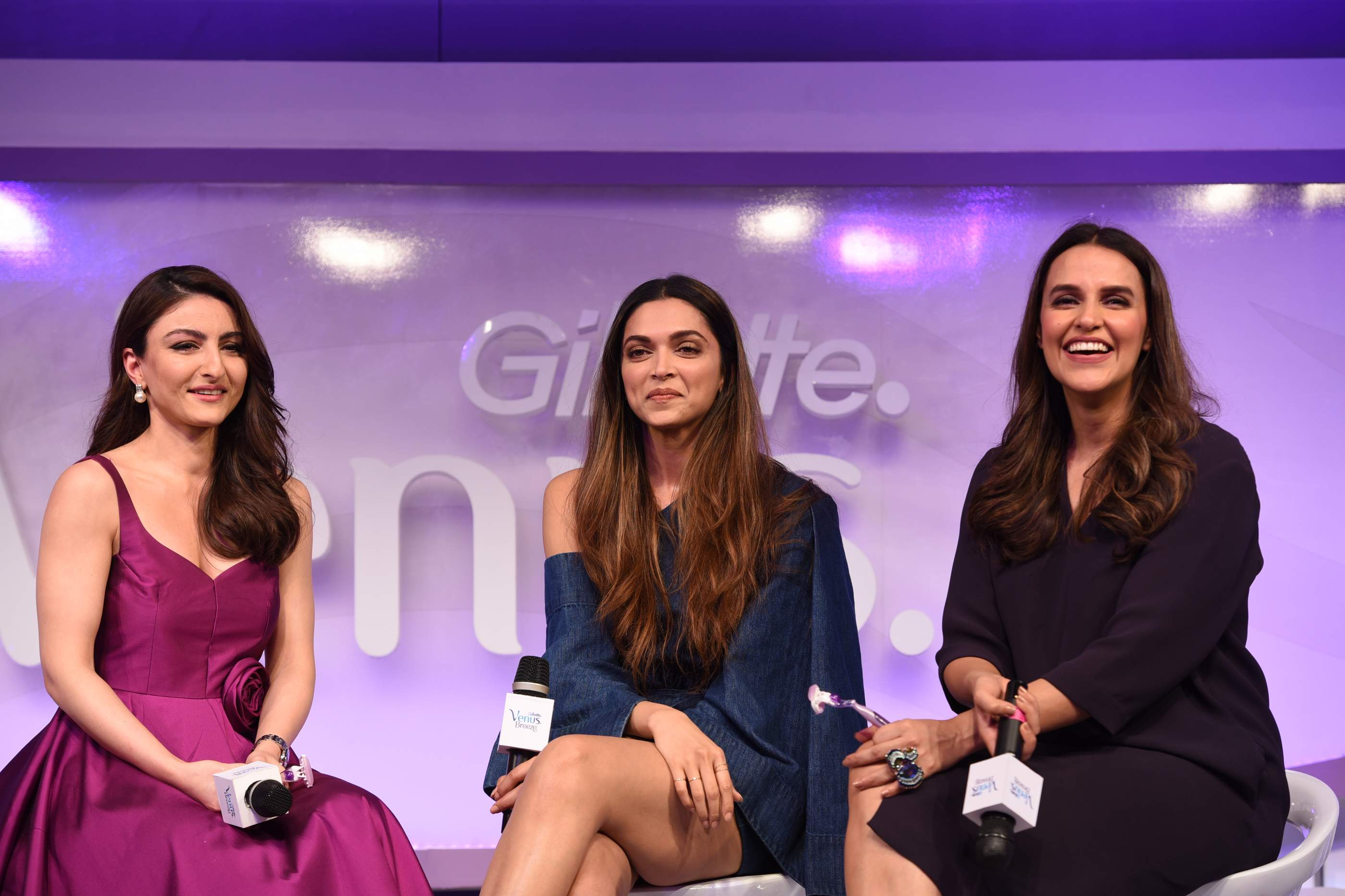 Beautiful Deepika Padukone, Soha Ali Khan & Neha Dhupia | Gillette Venus Breeze