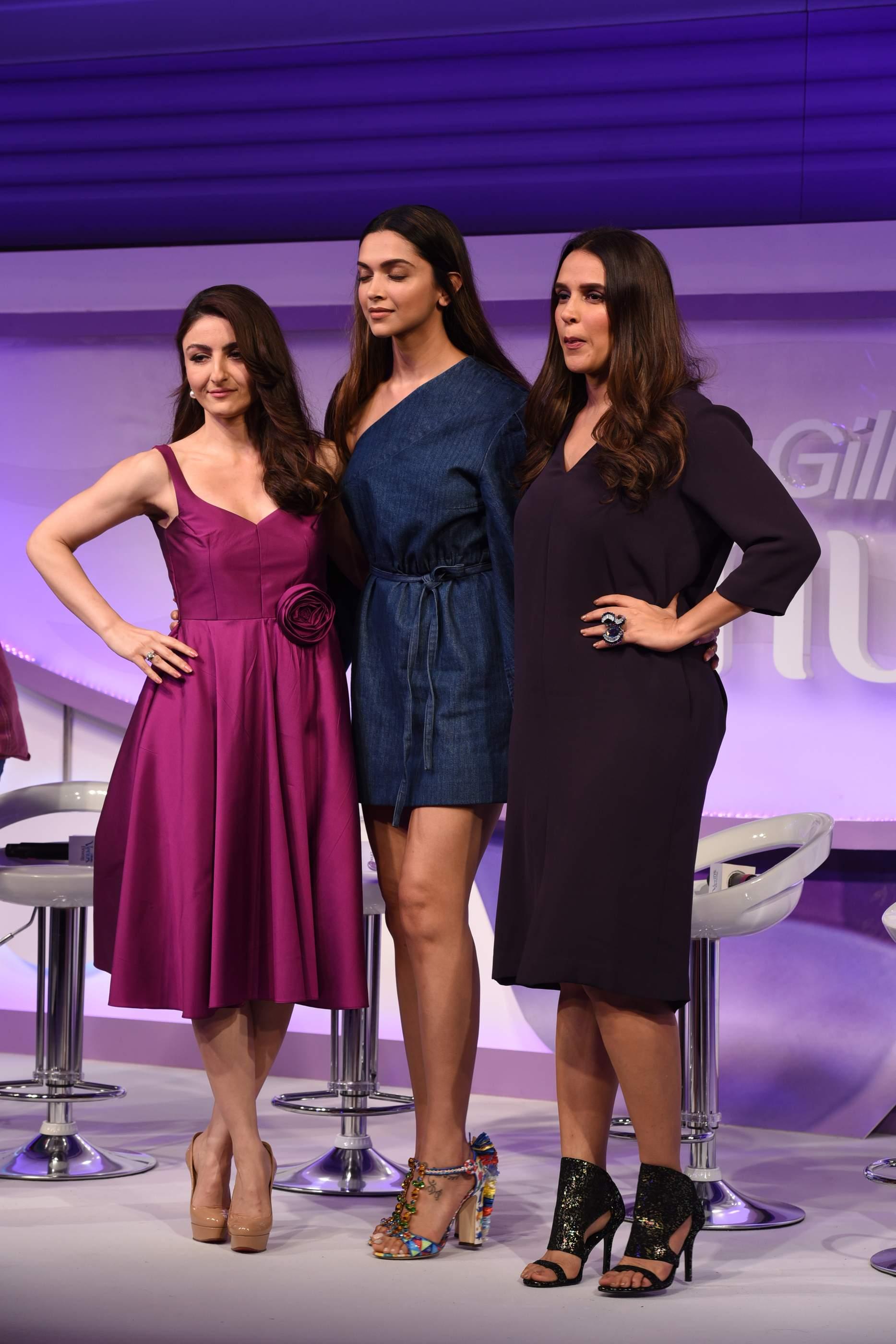 Beautiful Deepika Padukone, Soha Ali Khan & Neha Dhupia Beautiful Deepika Padukone, Soha Ali Khan & Neha Dhupia Gilette 128