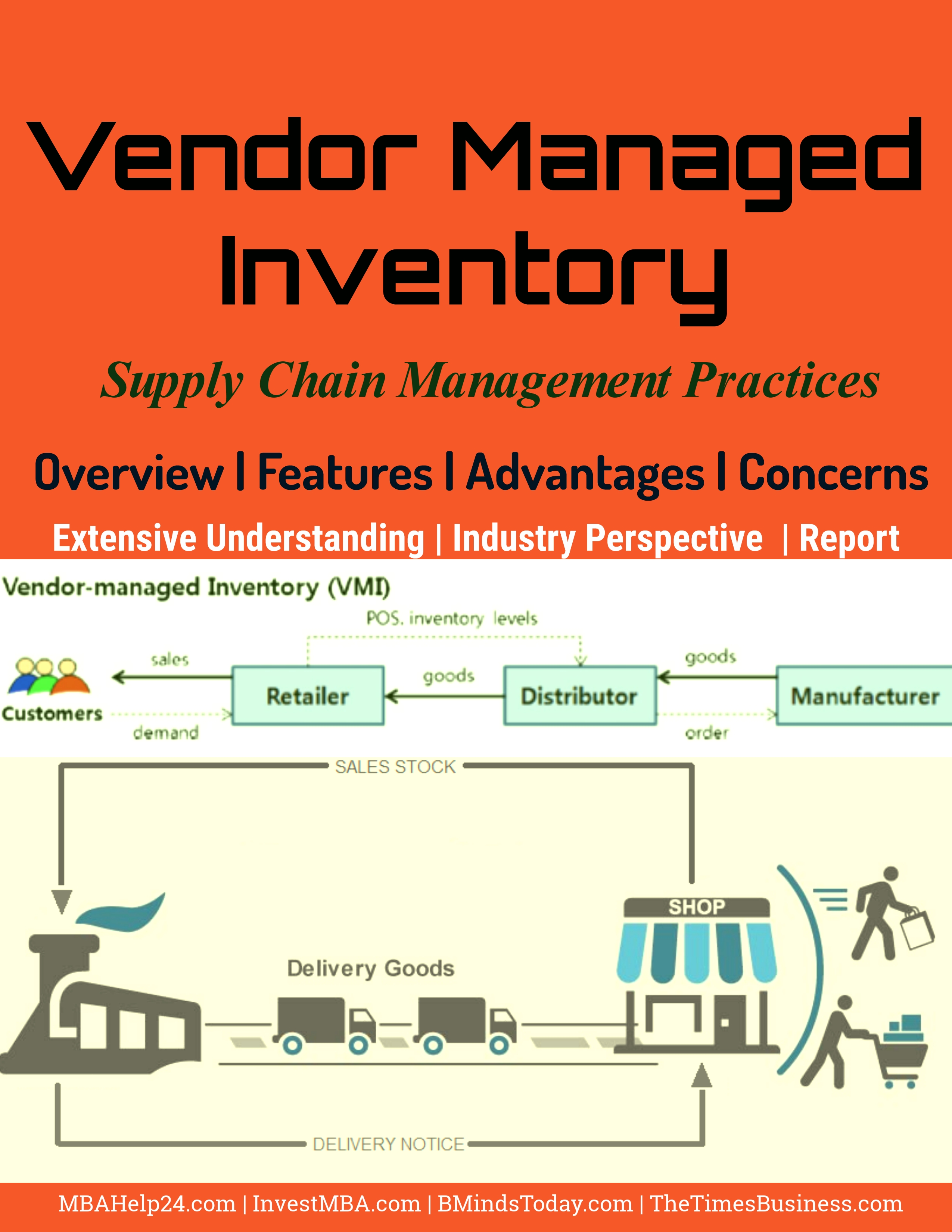 vendor managed inventories Article on the pros and cons of vendor managed inventory vmi.