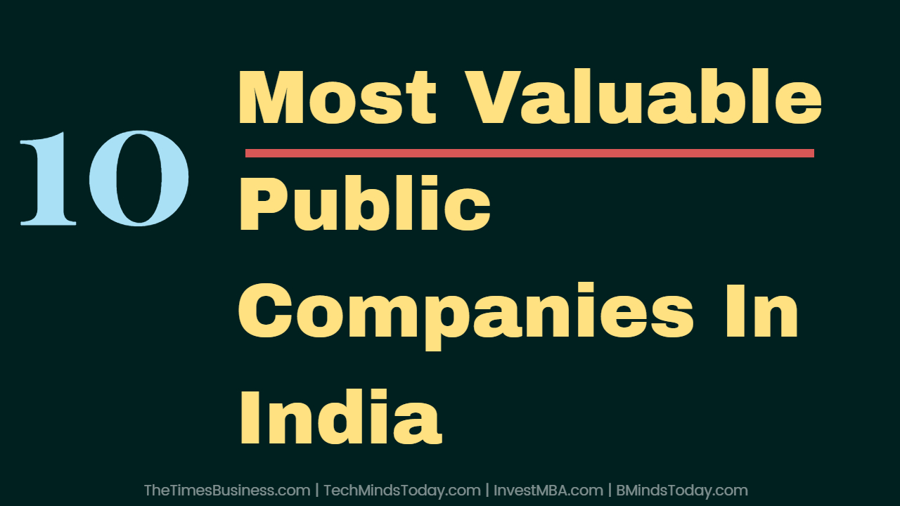 Ranking The TOP 10 Most Valuable Public Companies In India ranking the top 10 most valuable public companies in india Ranking The TOP 10 Most Valuable Public Companies In India Most Valuable Public Companies In India