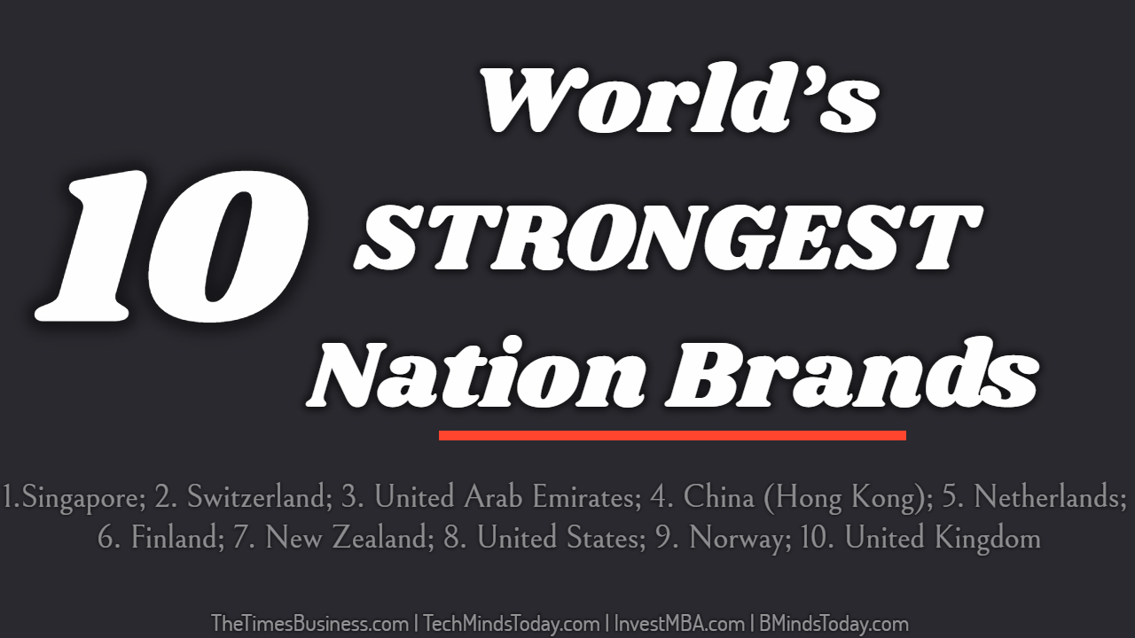 TOP 10 List Of World's STRONGEST Nation Brands
